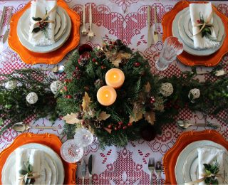 Christmas Eve Dinner with a Touch of Vintage Style & Traditional Food